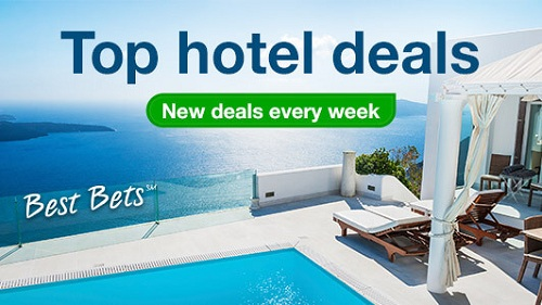 Look for hotel deals