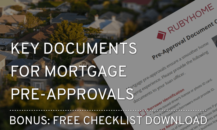 Documents to Prepare for Mortgage Pre-Approval
